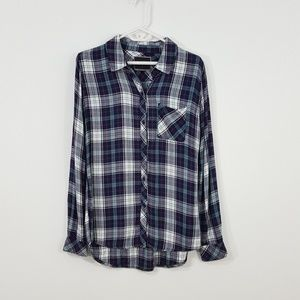 RAILS Blue Plaid Button Down Long Sleeve Shirt S